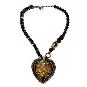 Gold Lion Hearted Shaped Necklace
